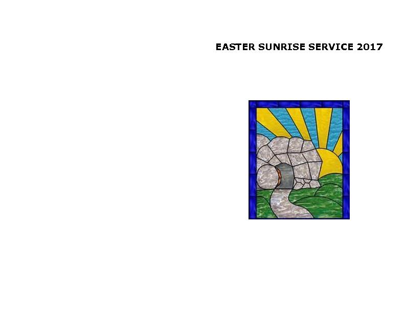 Easter Sunrise Service 2017
