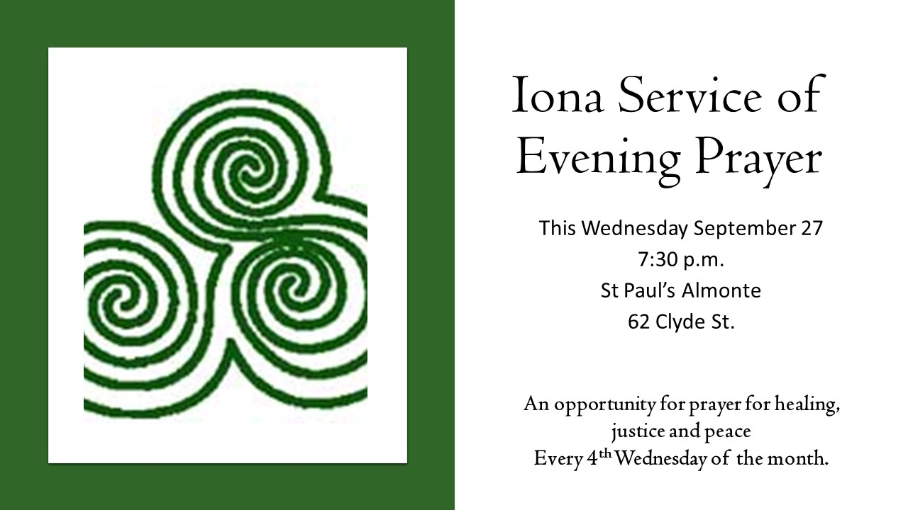 Iona Service of Evening Prayer