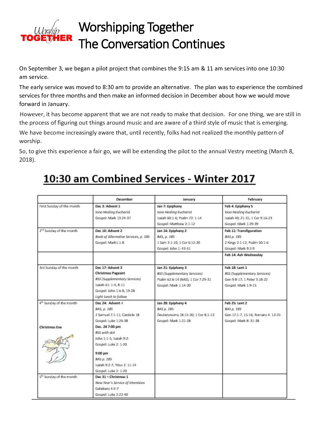 Winter 2017 Pilot project-sched