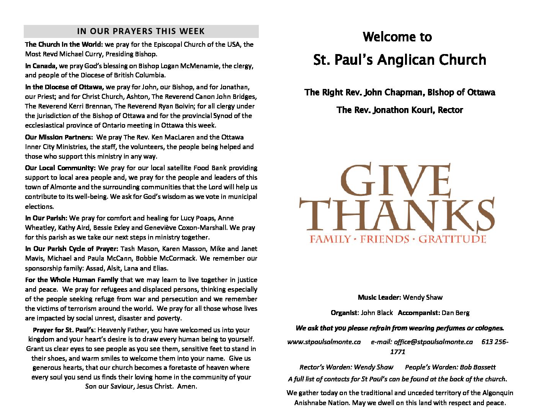 Thanksgiving Bulletin 1030-Oct7 2018