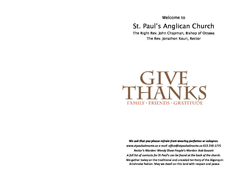 Thanksgiving Bulletin 830 Oct7 2018