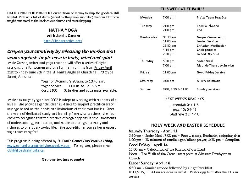 Announcements Apr 09 2017