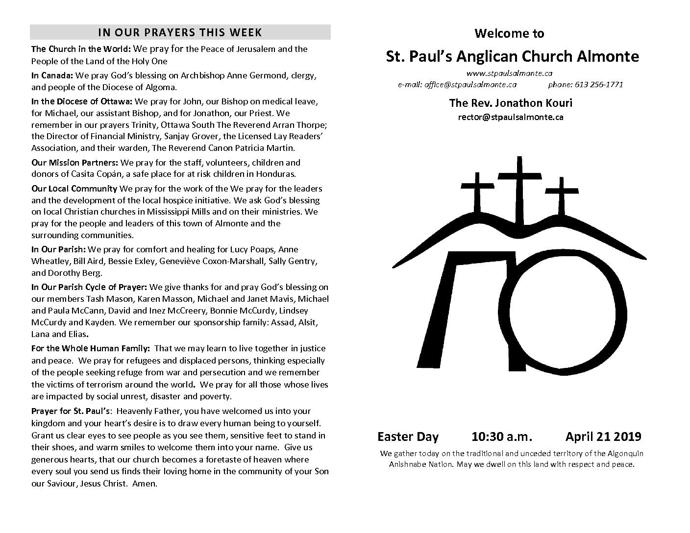 Bulletin Apr 21 2019 EASTER