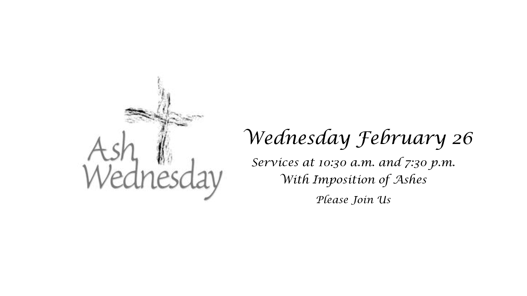 Ash Wednesdday 2020