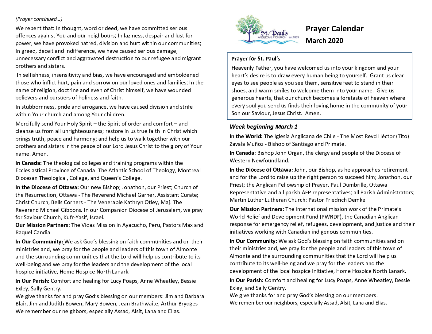 Prayers-March – new